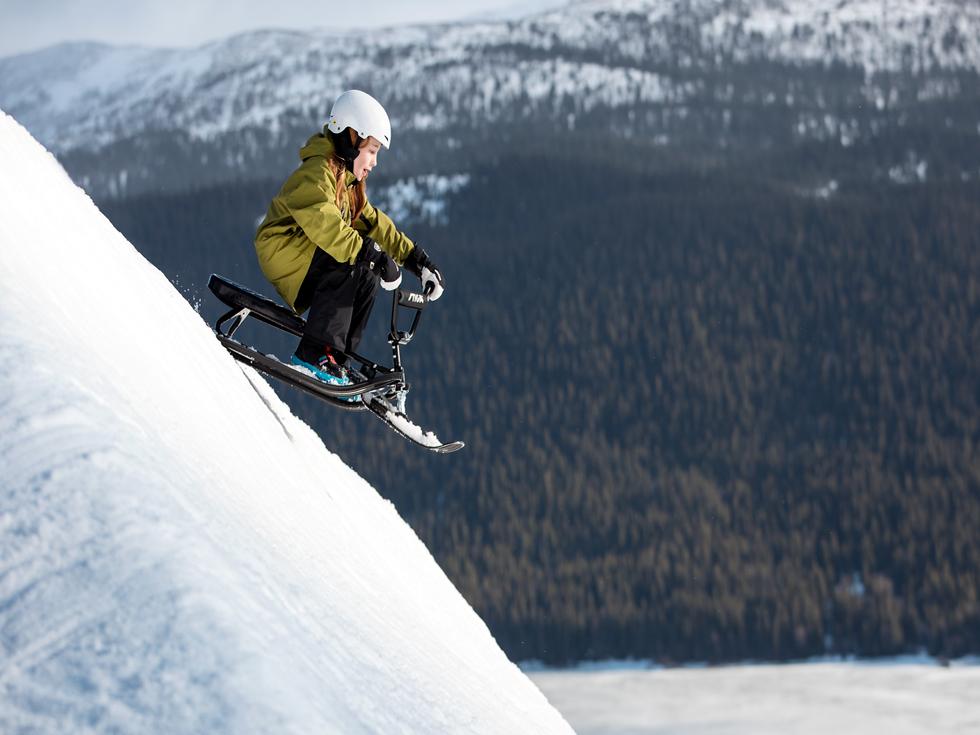 luge avec volant stiga snowracer sx pro. Black Bedroom Furniture Sets. Home Design Ideas