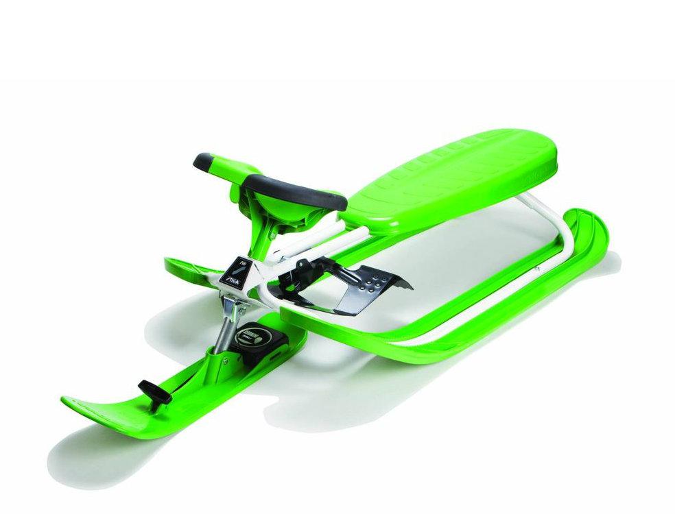 stiga luge snow racer color pro vert. Black Bedroom Furniture Sets. Home Design Ideas