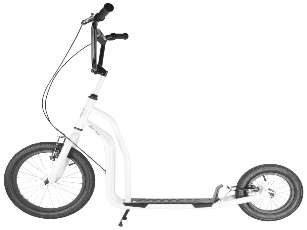 trottinette adulte grande roue stiga air scooter 16 blanc. Black Bedroom Furniture Sets. Home Design Ideas